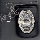 NYPD-Style Traffic Agent Shield/ID Card Neck Holder (Badge/ID Card Not Included)