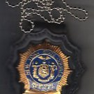 NYS Senior Court Officer Badge Neck Hanger/Belt Clip w/chain (Badge Not Included