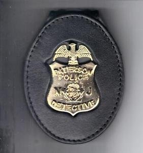 Paterson Police (NJ) New Detective Badge Cut-Out Large Belt Clip (No Badge)