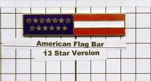 Police Department - American Flag Citation Bar (screw back)