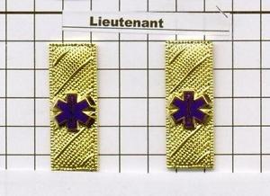 Emergency Medical Service - Lieutenant Epaulet Brass Set of 2 - Gold Plated