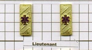Emergency Medical Service - Lieutenant Collar Brass - Gold Plated - set of 2