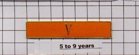 Sheriff's Department 5 to 9 Year Longevity Bar (V) Citation Bar pin back  Orange