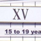 Police Department 15-19 Year Longevity Bar (XV) Citation Bar (pin back - White)