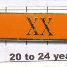 Sheriff's Dept 20-24 Year Longevity Bar (XX) Citation Bar - pin back - Orange