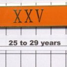 Sheriff's Dept 25-29 Year Longevity Bar (XXV) Citation Bar - pin back - Orange