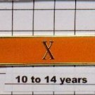 Correction's Dept 10-14 Year Longevity Bar (X) Citation Bar - pin back - Orange