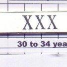 Sheriff's Department 30-34 Year Longevity Bar (XXX) Citation Bar pin back  White