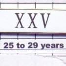Police Department 25-29 Year Longevity Bar (XXV) Citation Bar (pin back - White)