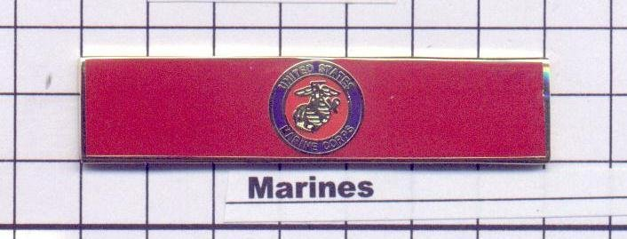 Fire Department - U.S. Marines Service Bar (military clutch Back)