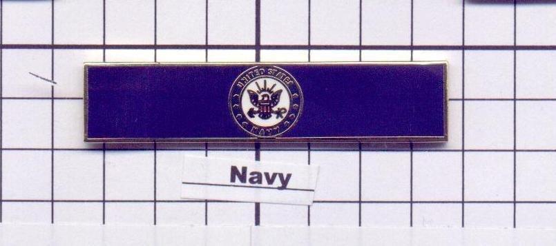 Emergency Medical Service - U.S. Navy Service Bar (military clutch Back)