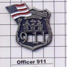 Officer 911/American Flag -  World Trade Center Memorial Pin