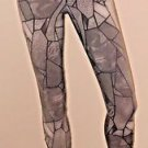 Bebe Gray and Black Leggings Pants w/Zipper Details SzXS