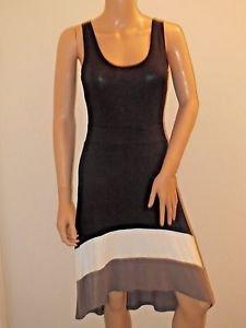 Black Long Tank Style Dress by Pink Rose w/Asymetrical Hem SzS