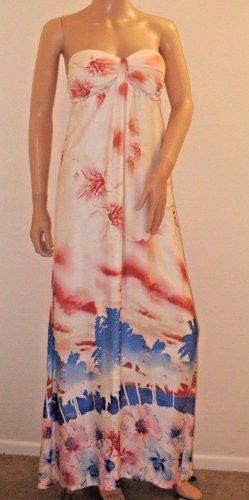 Exotic Imported Brazilian Long Strapless Maxi Dress SzS