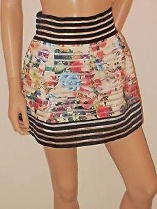 Multi Color Floral Short Pleated High Waist Bell Style Skirt SzS