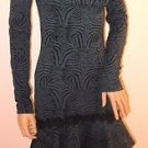 Dark Forest Green Imported Brazilian Off The Shoulder LS Dress SzM