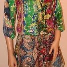 Colorful Exotic Print Silky Imported Short Brazilian Dress Outfit SzS