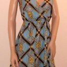 Kardashian Kollection Gold Chain Medallion Print Short Dress SzXS