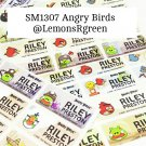 SM1307 Angry Birds Waterproof Name Stickers