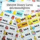 SM1308 Disney Larva Waterproof Name Stickers Korean Animated Cartoon Movie