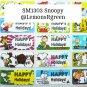 SM1303 Snoopy Waterproof Name Stickers Charlie Brown