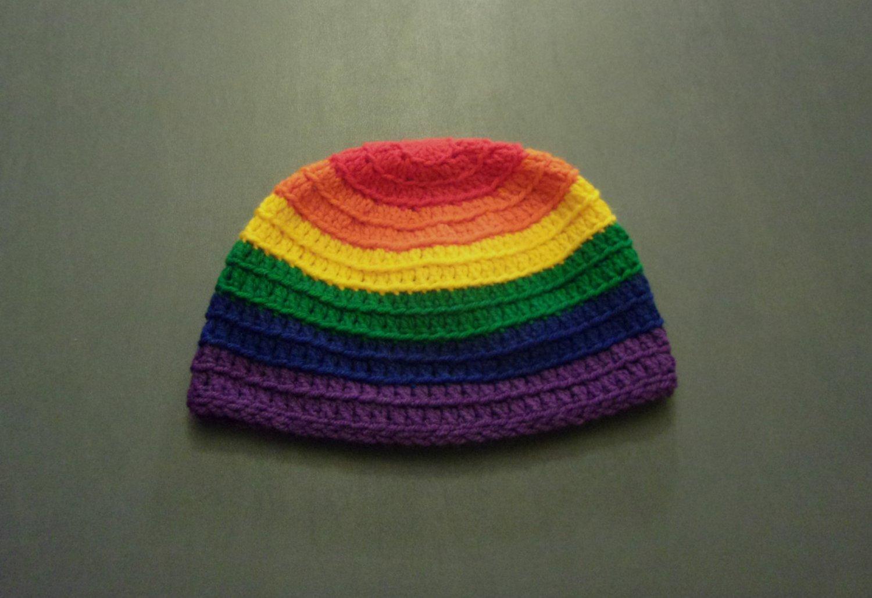 L Rainbow Gay Pride LGBT Winter Beanie