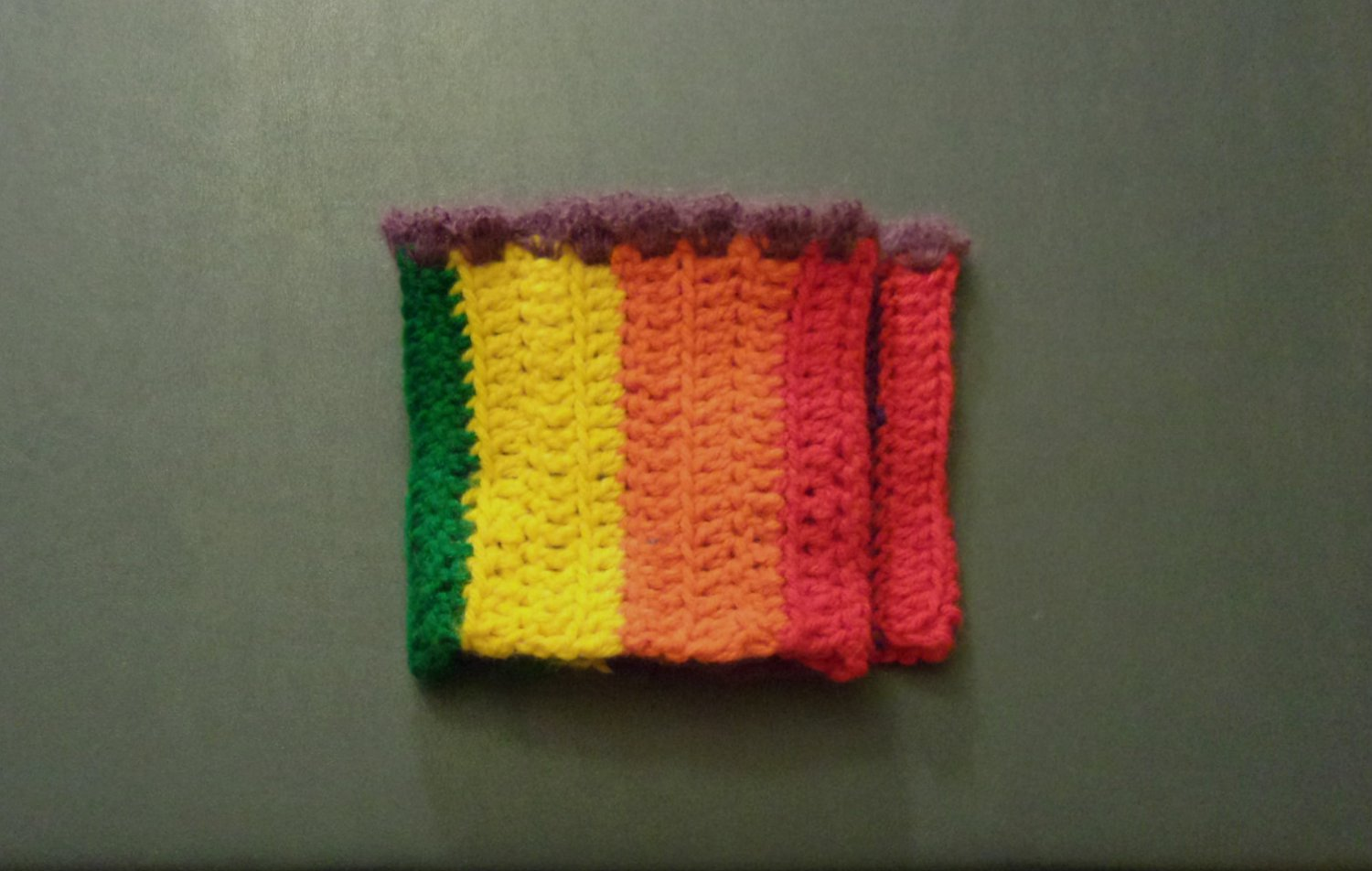 OSFM Rainbow Gay Pride LGBT Boot Toppers/Boot Cuffs with Purple Trim