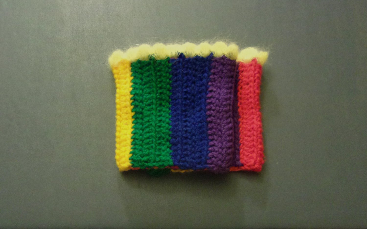 OSFM Rainbow Gay Pride LGBT Boot Toppers/Boot Cuffs with Yellow Trim