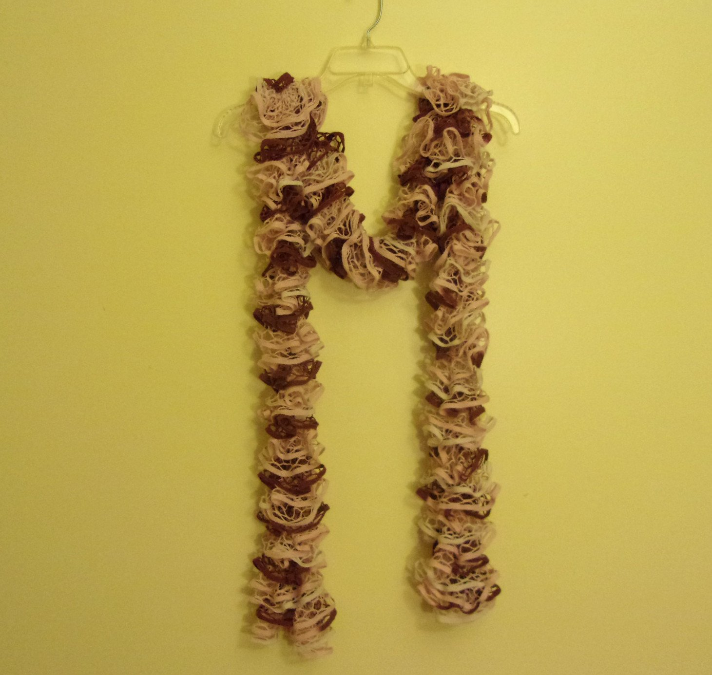Women's/Teen Ruffle Scarf Scarves Pink, Brown, and Cream Multicolor