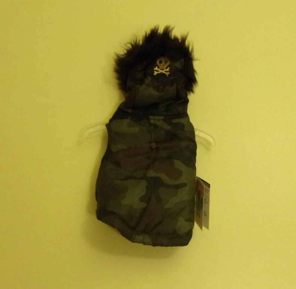 XS Simply Dog- Dog Jacket Green and Black Camoflage