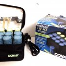 CONAIR HS28R Instant Heat 12 Travel Compact Setter Hot Rollers Set w/ New Clips