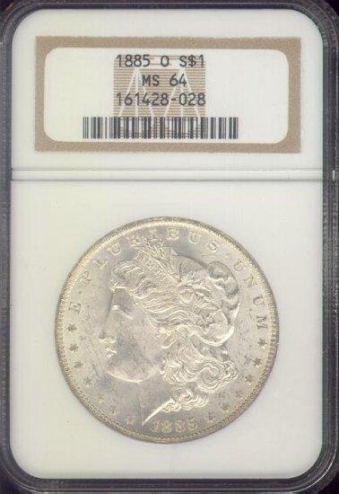 1885-O Morgan Silver Dollar, MS64