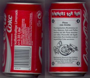 1994 Dated Can of Coke from Germany
