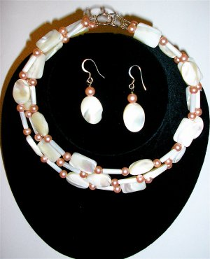 Gifts from the Sea - Designer Mother of Pearl Neclace Set