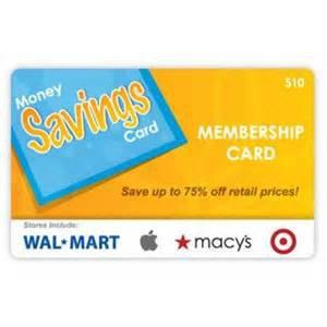 Money Savings Card