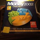 Microsoft Money 2002 Deluxe w/ Manual PC CD plan budget bills reduce debt income