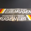 Large 2pc MUGEN Stickers Reflective Racing Decals for JDM Honda