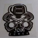 Large JDM Power Domo Sticker Racing Decal for JDM Honda Nissan Mitsubishi