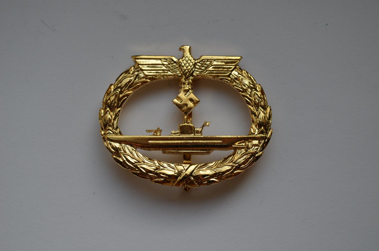 WWII THE GERMAN GOLD BADGE KRIEGSMARINE U-BOAT