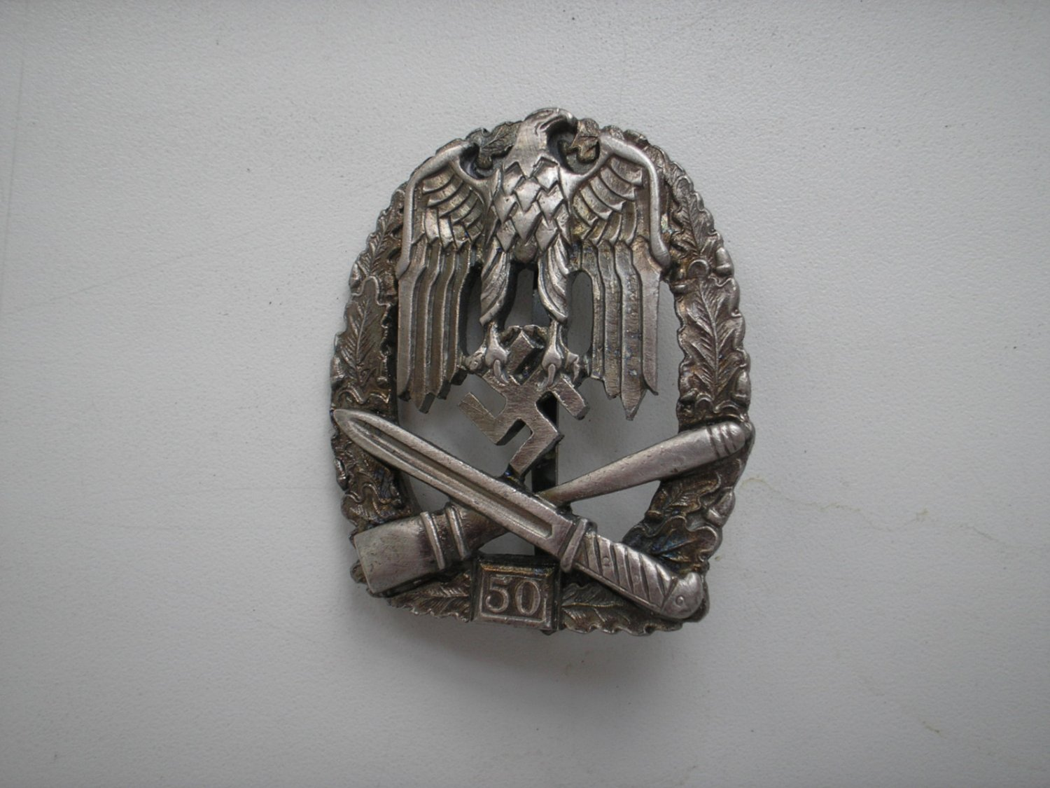 WWII THE GERMAN BADGE GENERAL ASSAULT 50