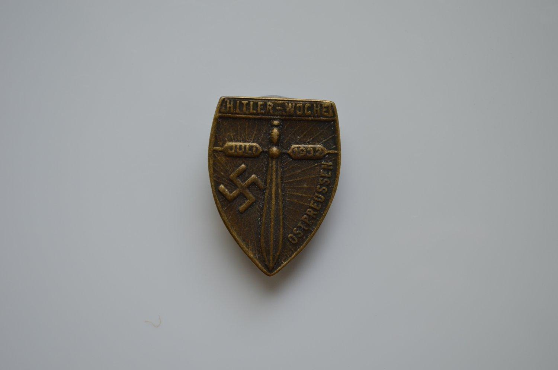 WWII THE GERMAN BADGE FUHRER WOCHE OSTPREUSSEN 1932