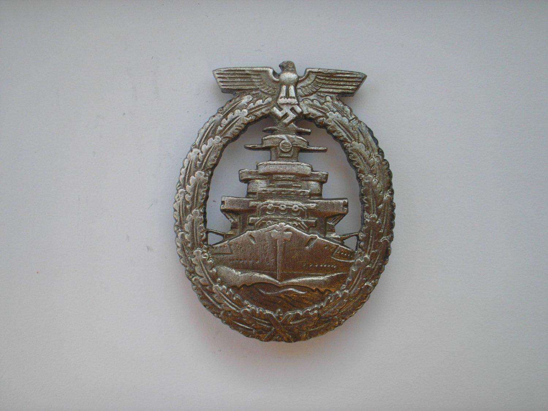 WWII THE GERMAN BADGE KRIEGSMARINE HIGH SEAS FLEET