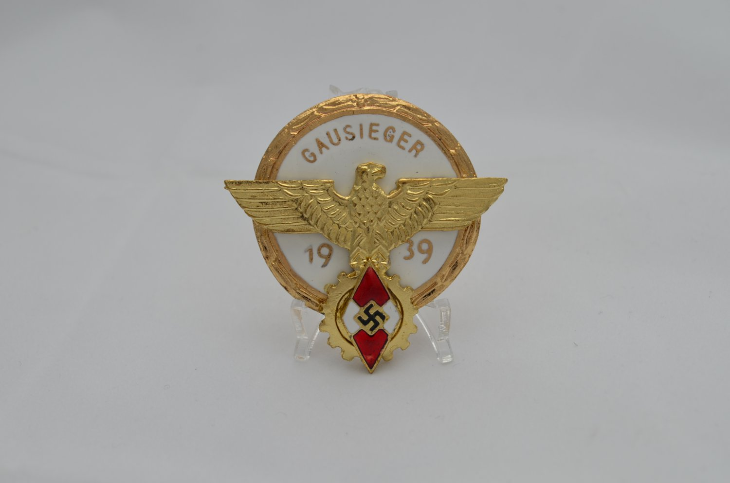 WWII THE GERMAN GOLD BADGE GAUSIEGER 1939
