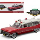 1959 Cadillac Ambulance Red and White Precision Collection 1/18 Diecast Model Car by Greenlight