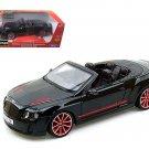2012 2013 Bentley Continental Supersports ISR Convertible Black 1/18 Diecast Model Car by Bburago