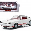 1981 Chevrolet Camaro Z28 White with Red Stripes 1/18 Diecast Model Car by Greenlight