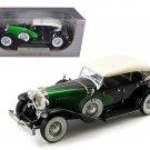 1934 Duesenberg Model J Black/Green 1/18 Diecast Model Car by Signature Models