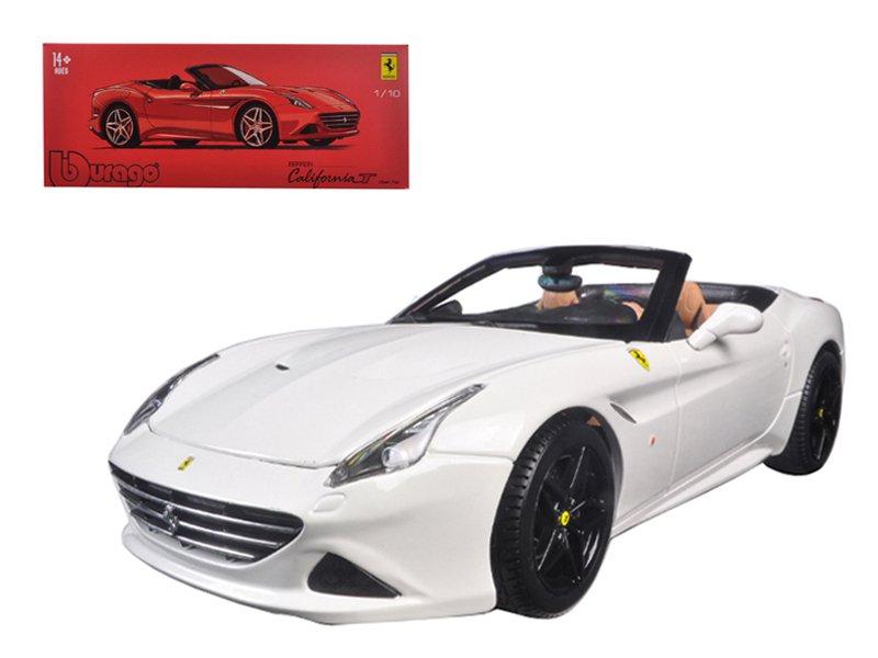 Ferrari California T Open Top Convertible White Signature Series 1/18 Diecast Model Car by Bburago
