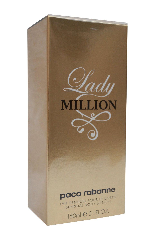Paco Rabanne Lady Million Women Body Lotion, 5.1 Ounce